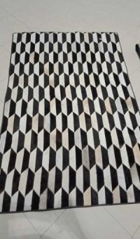 3d Style patchwork Rug- Cowhide Bags