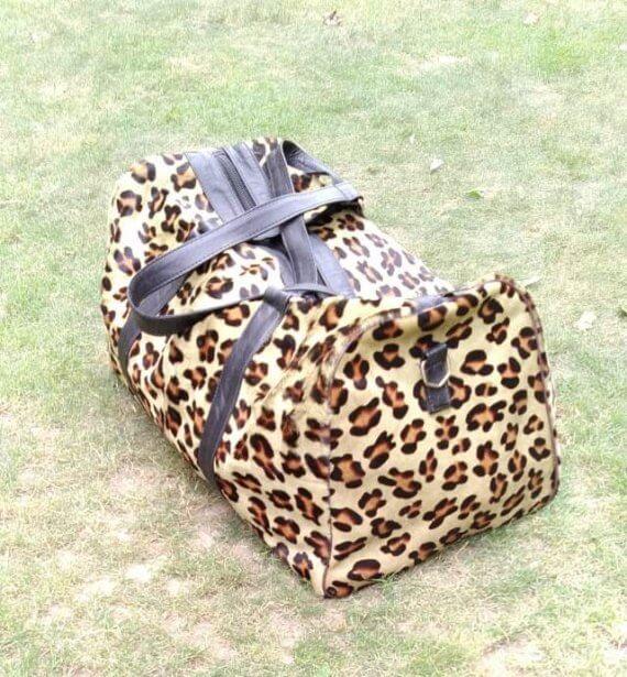 Cheetah Print Duffel Bag Leopard